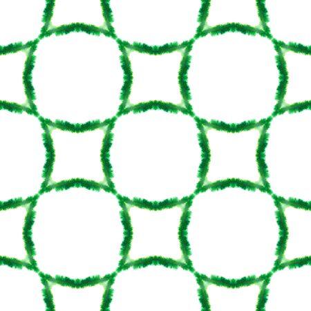 Traditional Graphic Hand Drawn Painted.  Hand Drawn, Paint Texture, Shibori Seamless Pattern. Green, Lime, Mint Tribal Ethnic Geo Rug. Geometric Herringbone Motif. Standard-Bild - 133681782