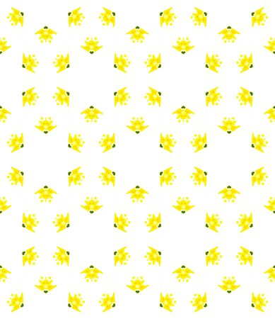 Geo Geometric, Endless Repeat Painting.  Navajo, Aztec, American, Cherokee Ornament. Geo Surface. Ethnic Bed Linen. Yellow, Green Mosaic. Herringbone Design. Standard-Bild - 133681796