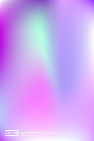 Holographic, Vector, Glossy Cover. Soft Color. Blue Screen Holographic, Pastel Cover Background.  Bright, Light, Simple Concept. For Web Applications, Mobiles, Screen Template.