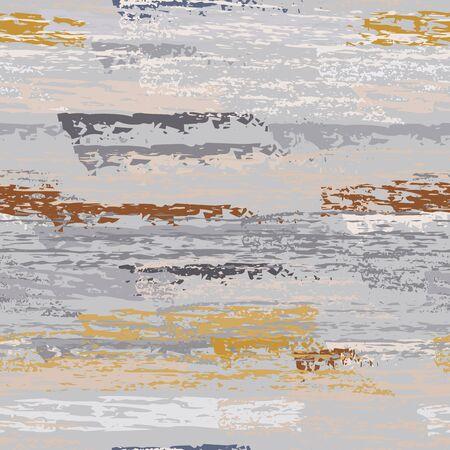 Hand Drawn Grunge Surface. Stripy Chalk Coal Pattern. Seamless Pattern. Chalk Pattern. Sport Khaki and Camo Backdrop. Art Background Surface. Brush Vector illustration. Stock Illustratie