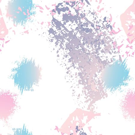 Splatter Brush Stroke Surface. Watercolor Endless Repeating Elements. Artistic Modern Splash Print. Black and White Watercolor Overlay Surface. Abstract Brush Vector illustration.