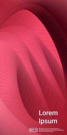 Blend Cover Poster. Magenta, Burgundy, Geometric Design Poster. Minimal Dynamic Web Applications. Mobile Vertical Flyer. Vector Template Design.  Futuristic, Simple, Screen Effect. Illustration
