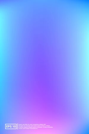 Holographic, Vector, Glossy Cover. Soft Color. Blue Screen Holographic, Pastel Cover Background.  Vivid, Calm, Celebration Poster. For Web Applications, Mobiles, Screen Template.