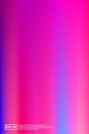Iridescent, Blurred Gradient Mesh.  Pink Screen Iridescent, Minimal, Blurred Background.  Color, Space, Modern Backdrop. For Web Applications, Mobiles, Screen Template. Ilustração