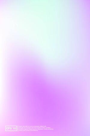 Holographic, Blur, Foil Hologram. Pastel Color. Blue Screen Holographic, Soft, Foil Background.  Multicolor, Space, Hipster Effect. For Web Applications, Mobiles, Screen Template. Ilustração
