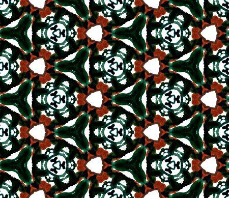 Geo Surface. Endless Repeat Painting.  Talavera, Azulejos, Portugal, Turkish Ornament. Geo Geometric. Folk Rug. Black, Red Art. Medallion .