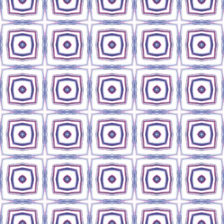 Geo Art. Endless Repeat Painting.  Indian, Aztec, Mexican, African,  Ornament.  Surface. Traditional Textile. Pink, Purple, Lilac Art. Stripes Design.