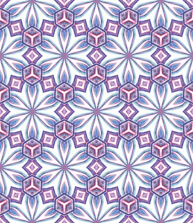 Ethnic  Art.  Arabesque, East, Eastern, Oriental Seamless Pattern. Geo Texture. Traditional Ancient Wallpaper. Purple, Pink Surface. Herringbone Pattern.