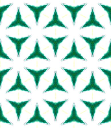 Ethnic  Art.   Staining,  Tie Dye Seamless Pattern. Green, Lime, Mint Native Traditional Folklore Canvas. Chevron Geometric Surface.