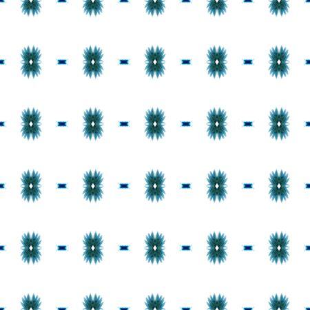 Geo Texture. Baltic, Slavic, Pagan, Northern, Seamless Pattern.  Tribal Texture. Native Wallpaper. Blue, Cyan, Pattern. Stripes Pattern.