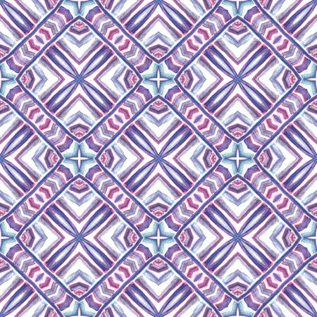Modern Abstract, Endless Repeat Painting.  Celtic, Polish, Balto-Slavic Ornament. Modern Abstract. Geo Fabric. Pink, Purple Texture. Woven Texture.