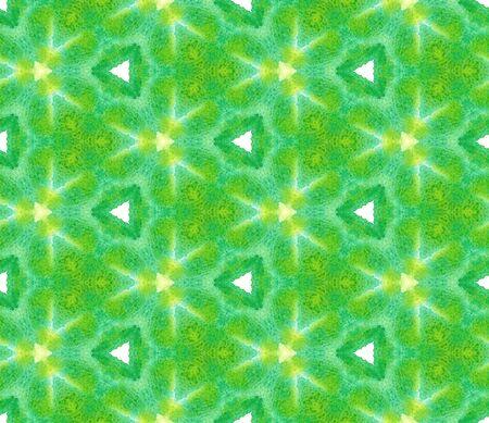 Geo Texture. Paint Texture, Shibori, Staining Seamless Pattern. Green, Lime, Mint Modern Folk Folklore Canvas. Organic Chevron Art. Banco de Imagens
