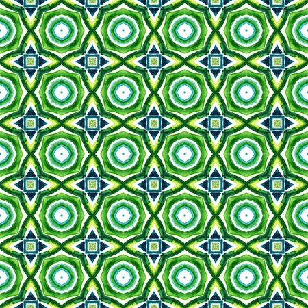 Ethnic Texture.  Islam, Orient, Spanish, Talavera Seamless Pattern. Geo Geometric. Native Geo Carpet. Blue, Green  Tile. Graphic Tile.