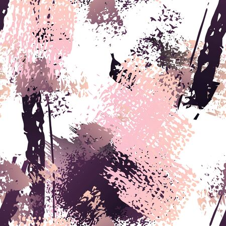 Worn Texture Splatter Surface. Paint Endless Repeating Elements. Splatter Pattern. Artistic Modern Black and White Watercolor Overlay Surface. Abstract Brush Vector illustration. Illustration