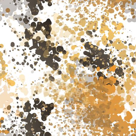 Texture Military. Fashion Concept. Distress Print. Surface Textile. Ink Stains. Spray Paint. Splash Smudges Artistic Creative Vector illustration. Endless Repeat Abstract Background. Illustration