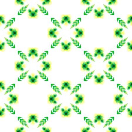 Traditional Surface. Endless Repeat Painting.  Russian, Celtic , Polish, Balto-Slavic Ornament. Modern Abstract. Modern Home Decor. Yellow, Green Motif. Woven Print.