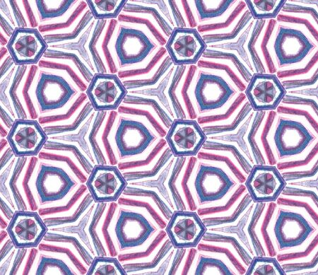 Watercolor Surface. Endless Repeat Painting.  Ottoman, Islam, Orient, Spanish  Ornament. Chevron Geometric. Summer Modern Wallpaper. Purple, Pink Texture. Natural Tile.