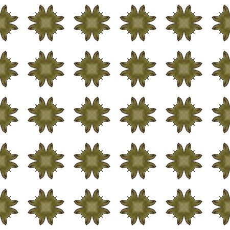 Modern Abstract, Endless Repeat Painting.  Hand Drawn, Paint Texture, Shibori Ornament. Green, Brown Modern Old Summer Bed Linen. Ornamental Organic Art.
