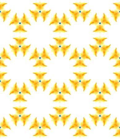 Traditional Art. Hand Drawn Painted. Texture, Shibori, Watercolor Staining Seamless Pattern. Red, Orange Folk Modern Vintage Carpet. Natural Stripes Watercolor. Stock Photo