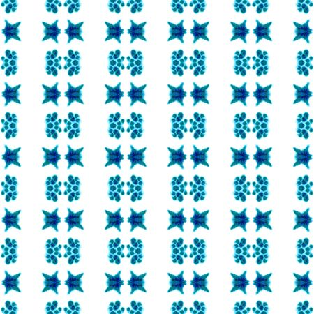 Tribal Texture. Hand Drawn Painted. Northern, Russian, Celtic , Polish Seamless Pattern. Geo Surface. Ancient Textile. Blue, Cyan, Print. Geometric Surface.