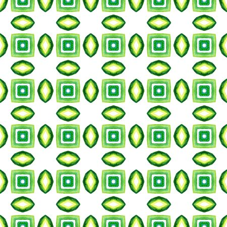 Traditional Surface. Endless Repeat Painting.  Aztec  Navajo, American, Cherokee Ornament. Ethnic Texture. Summer Wallpaper. Blue, Green, Lime, Mint Surface. Graphic Pattern.