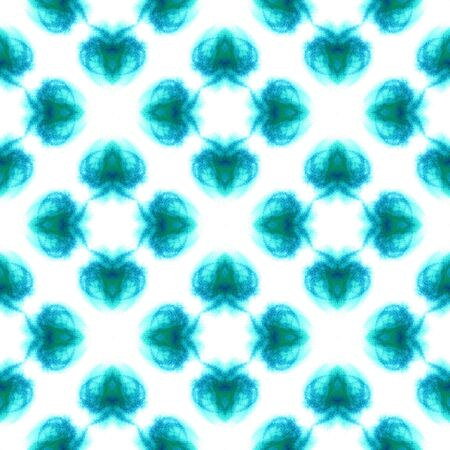 Tribal Art. Endless Repeat Painting.  Eastern, Mandala, Medallion, Floral Ornament. Ethnic Texture. Old Tribal Carpet. Blue, Indigo Print. Ornamental Print. Stock Photo