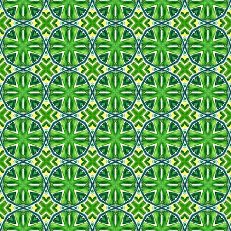 Ethnic Texture. Hand Drawn Painted. Hippie, Boho, Gypsy, Mediterranean Seamless Pattern. Watercolor Surface. Geo Folk Home Decor. Blue, Green  Design. Stripes Tile.