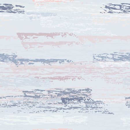 Grunge Dry Paint Surface. Stripy Crayon Pencil Strokes. Seamless Pattern. Summer Chalk Print. Pastel Pink Backdrop. Swipe Charcoal Texture Surface.