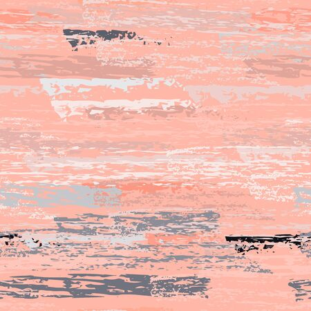Worn Texture Chalk Coal Surface. Pinstripe Endless Repeating Elements. Cool Chalk Trends Motif. Pastel Pink Backdrop. Chalk Coal Overlay Surface. Abstract Brush Vector illustration.