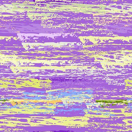 Distressed Stripes. Chalk Textures Surface. Seamless Pattern. Creative Chalk Print. Purple and Lilac Backdrop. Texture Scratch Overlay Surface. Brush Vector Background. Illusztráció