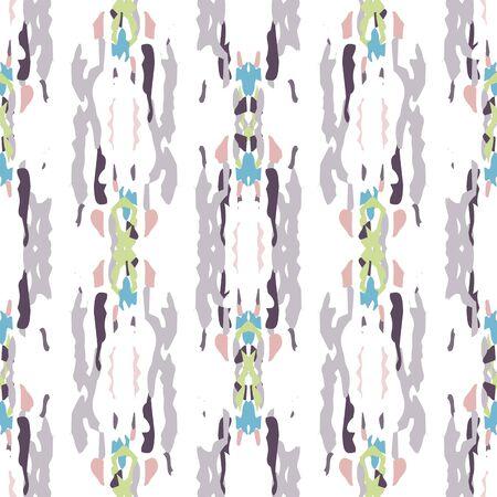 Batik, Hand Drawn. Paint Texture Ornament. Geo Geometric, Endless Repeat Painting. Pink Mint Ethnic Folklore Native Woven. Graphic Geometric Tie dye Surface.