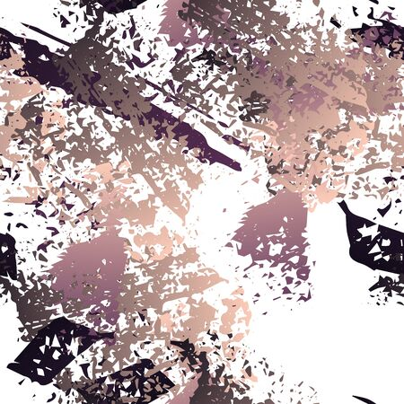 Worn Texture Splatter Surface. Paint Endless Repeating Elements. Splash Print. Artistic Trending Black and White Watercolor Overlay Surface. Abstract Brush Vector illustration. Illustration