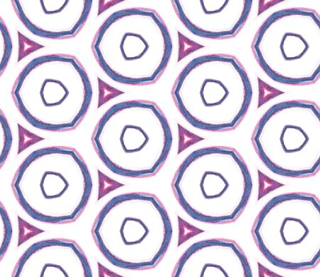 Ethnic Texture. Hand Drawn Painted. Talavera, Azulejos, Portugal, Turkish Seamless Pattern. Ethnic Surface. Old Cloth. Purple, Pink Element. Woven Tile.