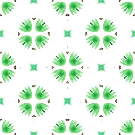 Modern Abstract, Endless Repeat Painting.  Celtic, Polish, Balto-Slavic Ornament. Tribal Texture. Folk Wallpaper. Green, Brown Print. Geometrical Texture. Фото со стока