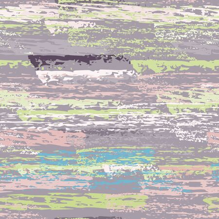 Distressed Stripes. Chalk Textures Surface. Seamless Pattern. Creative Chalk Trends Motif. Khaki and Camo Backdrop. Texture Scratch Overlay Surface.