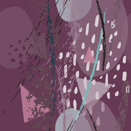 Collage Contemporary Textures. Illusztráció