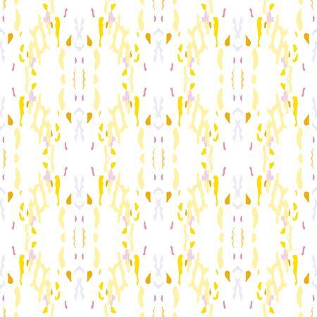 Paint Texture. Shibori, Staining Seamless Pattern. Geo Texture. Hand Drawn Painted. Sepia Yellow Vintage Summer Modern Canvas.  Staining Natural Shibori Design.