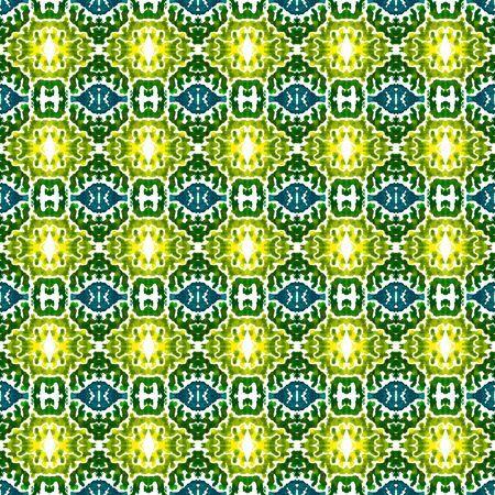 Geo Texture. Hand Drawn Painted. Baltic, Slavic, Pagan, Northern, Seamless Pattern.  Geo Art. Ethnic Textile. Blue, Green Motif. Chevron Pattern.