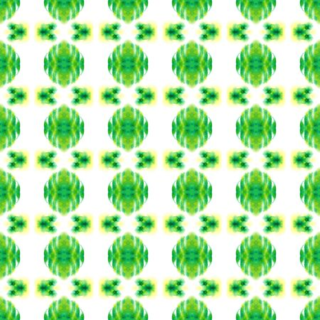 Ethnic  Art. Hand Drawn Painted. Cherokee, American, Navajo Seamless Pattern. Traditional Graphic. Traditional Textile. Green, Lime, Mint Ornament. Herringbone Mosaic. Reklamní fotografie
