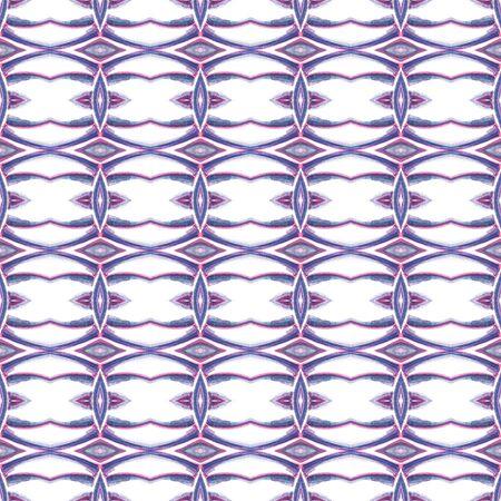 Tribal Texture. Hand Drawn Painted. Northern, Russian, Celtic , Polish Seamless Pattern. Geo Texture. Geo Woven. Pink, Purple Surface. Chevron Tile. Reklamní fotografie