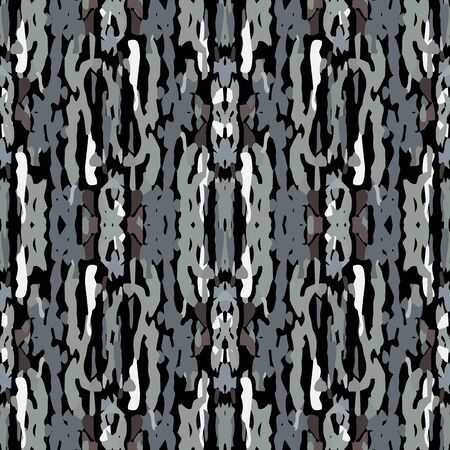 Hand Drawn, Paint Texture. Shibori Seamless Pattern. Traditional Graphic Hand Drawn Painted.  Black Gray Modern Vintage Tribal Cloth.  Geometry Medallion Shibori Design. Ilustrace