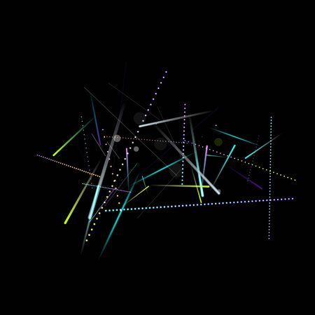Fast Effect. Motion Neon. Glare Dynamic. Falling Glow. Flow Light Movement. Element Futuristic Design. Abstract Trail Lines, Sticks. Concept Minimal. Modern 3D Static. Techno Vector illustration.