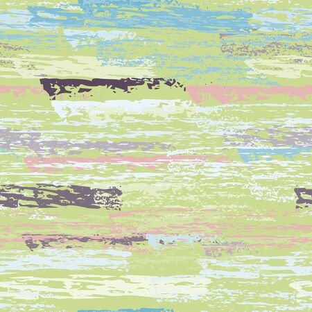 Horizontal  Brush Stroke Surface. Pinstripe Endless Repeating Elements. Chalk Print. Cool Khaki and Camo Backdrop. Abstract Charcoal Surface. Brush Vector Background.