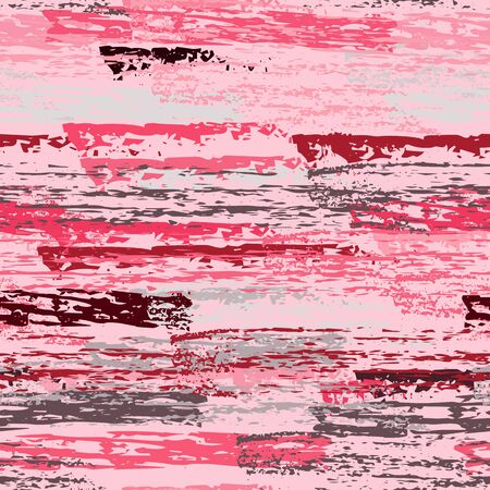 Worn Texture Chalk Coal Surface. Pinstripe Endless Repeating Elements. Creative Chalk Print. Pastel Pink Backdrop. Chalk Coal Overlay Surface. Abstract Brush Vector illustration.
