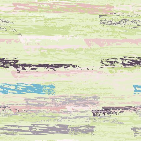 Horizontal Brush Stroke Surface. Pinstripe Endless Repeating Elements. Creative Chalk Print. Khaki and Camo Backdrop. Abstract Charcoal Surface. Brush Vector Background.
