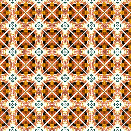 Chevron Geometric Hand Drawn Painted.  African, Peru, Mexico, Navajo Seamless Pattern.  Traditional Graphic. Modern Canvas. Red, Orange Motif. Medallion Print.