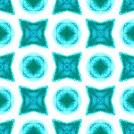 Modern Abstract, Endless Repeat Painting.  Mediterranean, Majolica, Azulejo, Portuguese Ornament. Geo Art. Modern Textile. Blue, Indigo Surface. Stripes Watercolor.