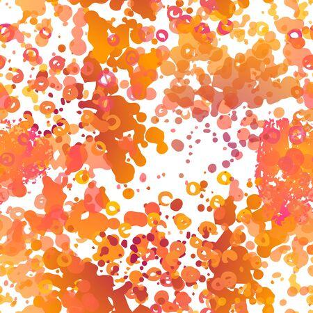 Blots Seamless Pattern. Fashion Concept. Distress Print. Bordo, Pink Illustration. Summer Surface Textile. Ink Stains. Spray Paint. Splash Blots. Artistic Creative Vector Background.