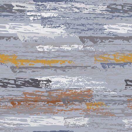 Hand Drawn Grunge Surface. Stripy Chalk Coal Pattern. Seamless Pattern. Creative Chalk Pattern. Khaki and Camo Backdrop. Art Background Surface. Brush Vector illustration. Vectores
