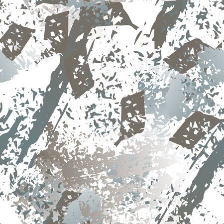 Hand Drawn Grunge Surface. Chalk Coal and Paint Print. Seamless Pattern. Splash Print. Artistic Summer Black and White Watercolor Overlay Surface. Abstract Brush Vector illustration.